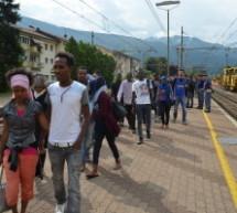Ankunft der Flüchtlinge