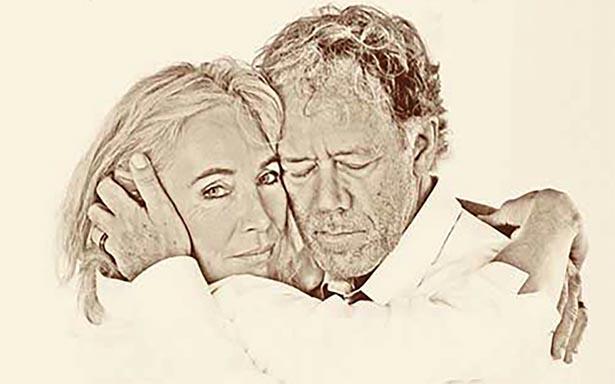 Heike Müller mit ihrem Ehemann