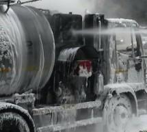 Tankwagen in Vollbrand