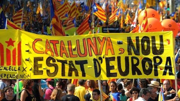 Kundgebung Katalonien