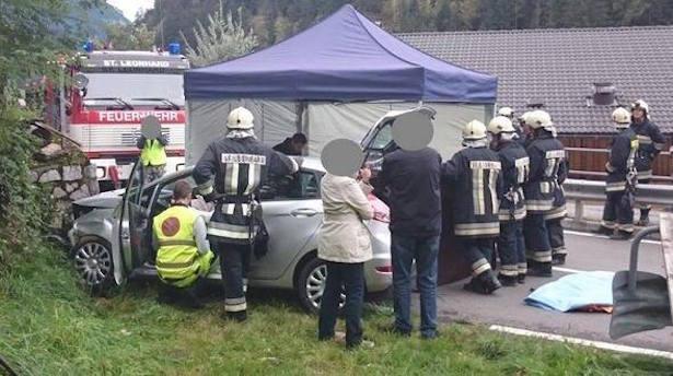 Unfall in Passeier (Foto: FF St. Leonhard)