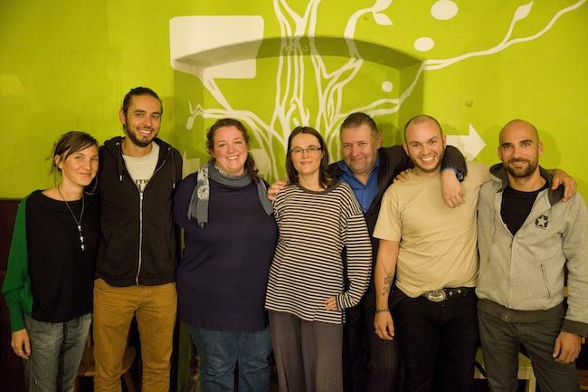 Der aktuelle Vorstand: v.l.n.r. Laura Zindaco, Thomas Kobler, Giorgia Lazzaretto, Sonja Steger, Erwin Seppi, Michael Schwalt, Klaus Niederstätter (Foto: Laurin Mayer)