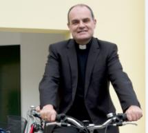 Radfahren mit dem Bischof