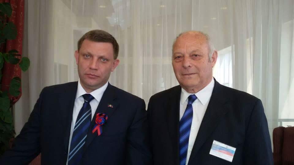 Luis Durnwalder mit dem Separatisten-Anführer Alexander Sachartschenko Foto: Alessandro Bertoldi