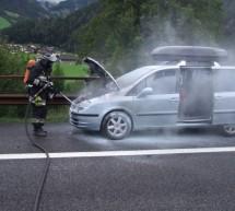 Fahrzeugbrand auf A22