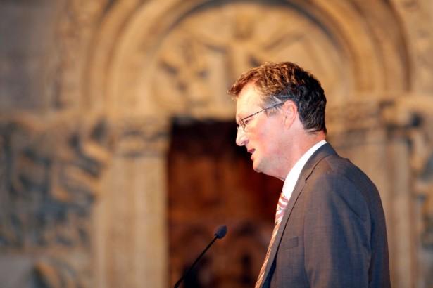 """""""Ohne Widerstand keine Autonomie"""", erklärte Historiker Stefan Lechner. LPA/Oskar Verant"""