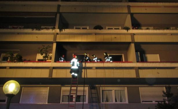 Der Einsatz der Feuerwehr in der Europaallee (Fotos: BFW Bozen)