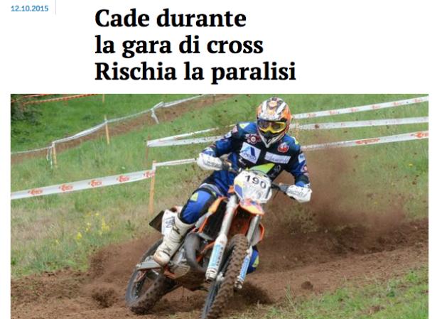 """Screenshot """"Giornale di Vicenza"""""""