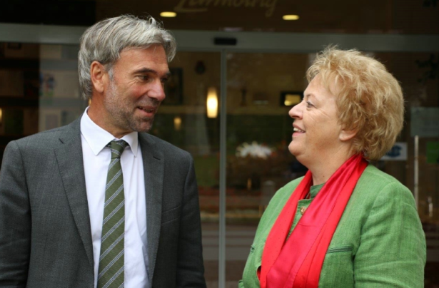 Arnold Schuler mit Verena Dunst