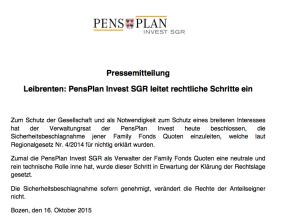 Die Pressemitteilung von PensPlan