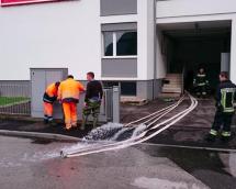 Wasserschaden im Betrieb