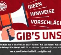 """Gib's uns"""