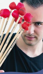 Simone Rubino: Schlagzeugsolo für die Brixner Schüler