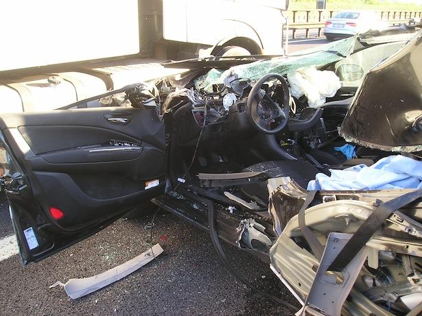 Der Unfallwagen (Foto: FF Neumarkt)