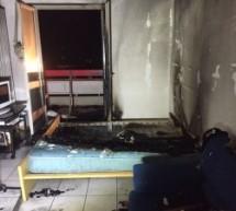 Matratze in Flammen