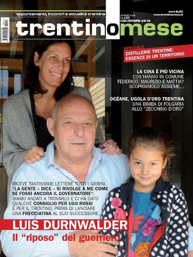 Das Cover von Trentino Mese mit der Familie Durnwalder