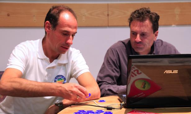 Turnierdirektor Wolfgang Wanker und Turnier Supervisor Riccardo Ragazzini während der Auslosung