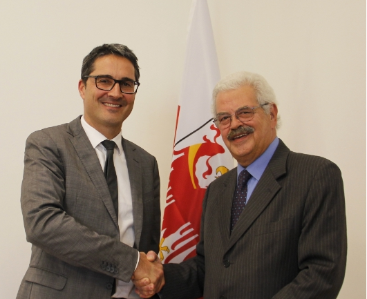 Der Landeshauptmann mit Michele Penta