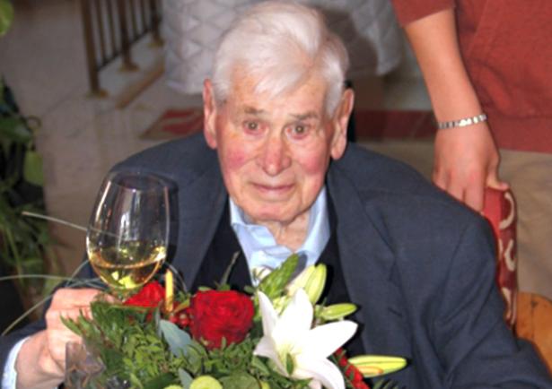 Haymo von Grebmer bei seinem 90. Geburtstag (Foto: Gemeinde Bruneck)