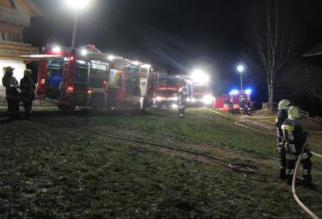 Der Einsatz der Feuerwehr (Foto: FF Mühlwald)