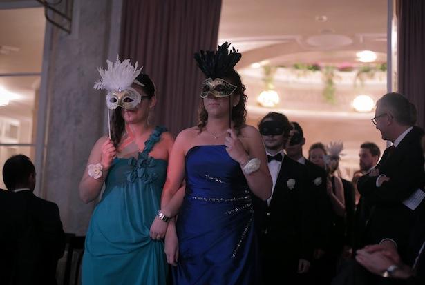 Der Einzug der Maturanten mit Maske