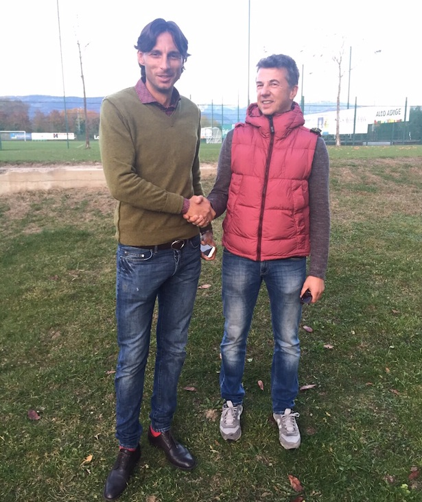 Gabriele Cioffi mit Sportdirektor Luca Piazzi