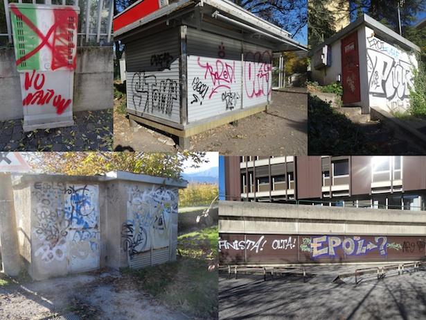 Schmierereien in Bozen (Fotos: Roland Lang)