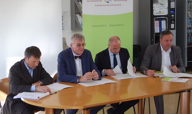 Markus Marsoner, Thomas Schael, Marco Cappello, Ernst Paul Huber (v.l.n.r.)