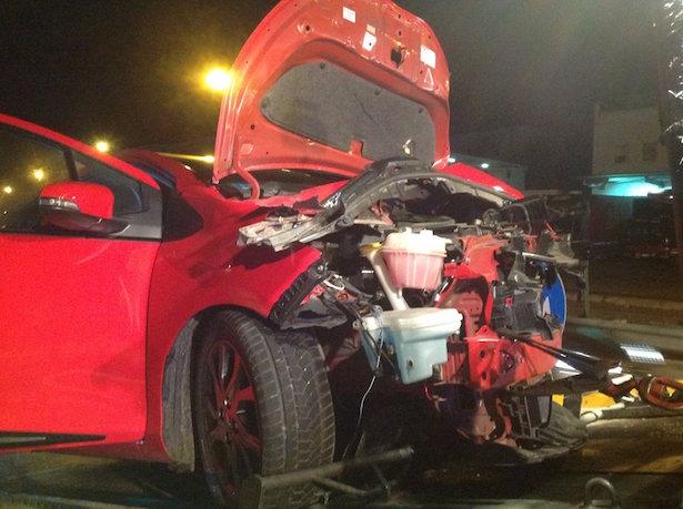 Crash in Auer (Fotos: FF Auer)