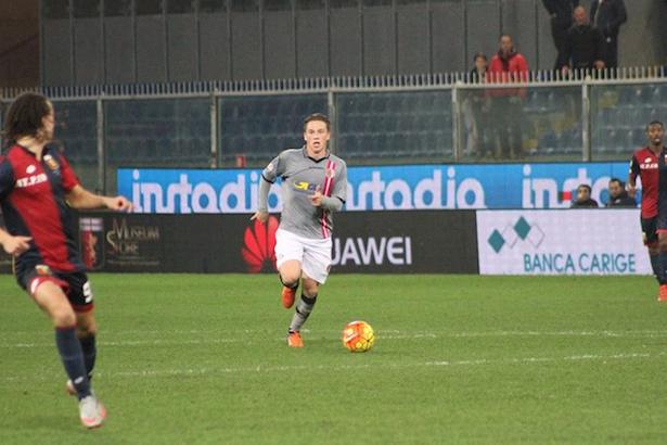 Manuel Fischnaller im Spiel gegen Genoa (Fotos: alessandria.calcio)