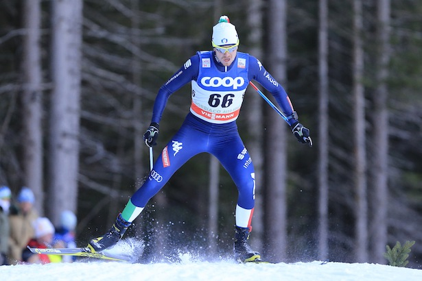 Dietmar NOECKLER competes during the FIS Cross Country Ski World Cup Sprint qualification race in Dobbiaco, Toblach, on December 19, 2015. Credit: Pierre Teyssot