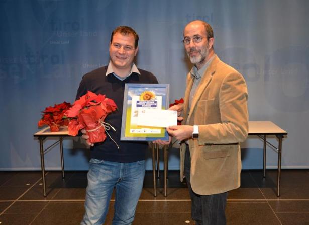 Amtsdirektor Giulio Angelucci mit Claus Langebner