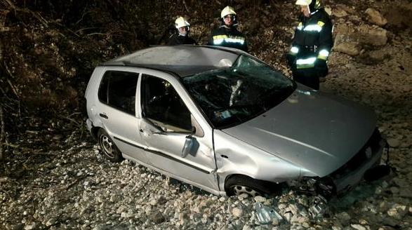 Der Unfallwagen (Foto: FF Seis)