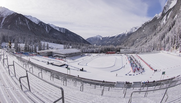 19.01.2016, Antholz, Italy (ITA): Event Feature: Beautiful sunshine during the training day -  IBU world cup biathlon, training, Antholz (ITA). www.nordicfocus.com. © Manzoni/NordicFocus. Every downloaded picture is fee-liable.