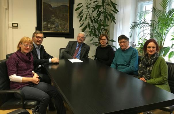Die Grünen beim Treffen mit Michele Penta
