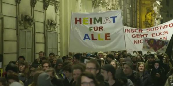 Die Demo gegen den Akademikerball (Fotos: krone.tv)