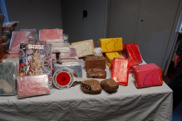 Das beschlagnahmte Kokain (Fotos: Finanzwache Sterzing)