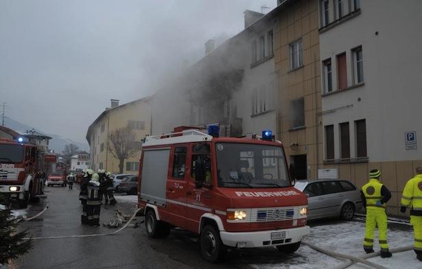 Der Einsatz der Feuerwehr (Fotos: FF Bruneck)