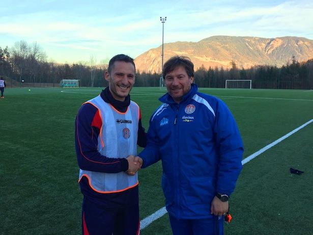 Fabio Gavazzi mit Trainer Giovanni Stroppa