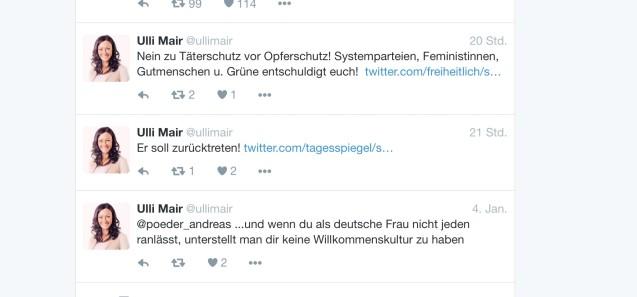 Die Tweets von Ulli Mair
