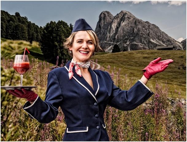 Ingrid M. Lechner: Was macht eine Stewardess auf der Alm?