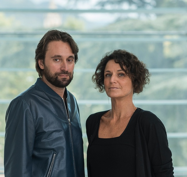 Der Künstler Francesco Vezzoli mit der Direktorin Letizia Ragaglia, Museion. (Foto Luca Meneghel)