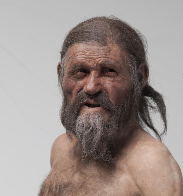 Die Ötzi-Rekonstruktion (Foto: Ochsenreiter)