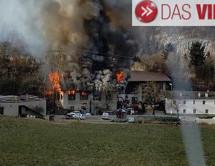 Stadel in Flammen