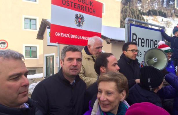 Herbert Dorfmann und Christian Tommasini am Brenner