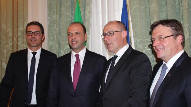 Die Landeshauptleute mit Innenminister Alfano