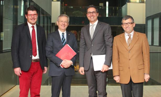 (v. l.) Martin Ausserdorfer, Michl Ebner, Arno Kompatscher, Raffaele Zurlo
