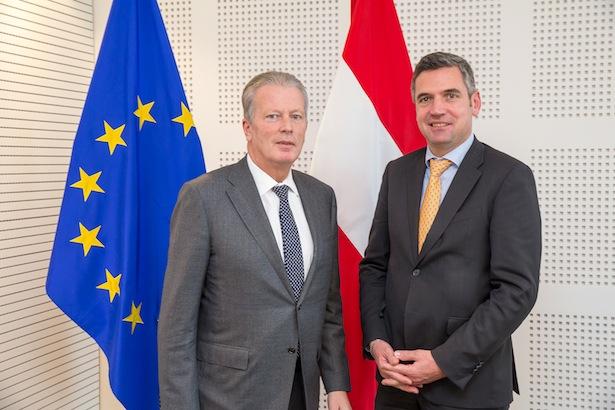 Herbert Dorfmann mit Mitterlehner