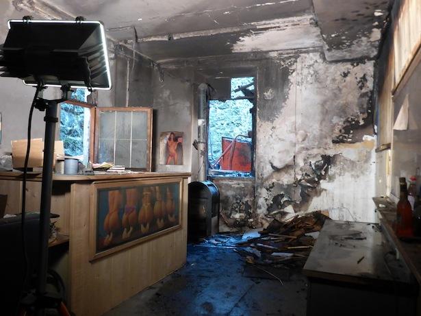 Der Brand in Waidbruck (Fotos: FF Waidbruck)