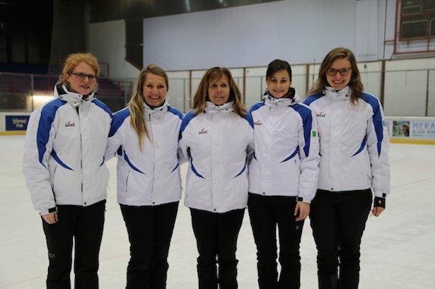 Mannschaft Damen: Sonja Mulser, Maria Mair am Tinkhof, Maria  Romen, Marion Huber und Franziska Knoll.
